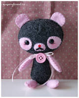 Pink Panda Plushie by littlepaperforest