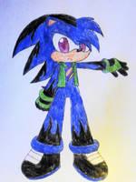 Zero the Demon Hedgehog by Mystikal-Aurora