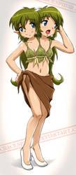 Leaf Bikini from Love Hina by crackspid3r