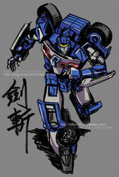 Swordbot Kenzan by littleiron