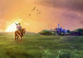 Hyrule Field by BacchiColorist