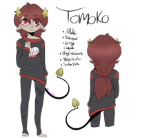 OC: Tomoko Aki -New ref- by LunaticLily13