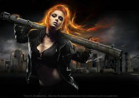 FLAMING PROTECTOR by Rafido