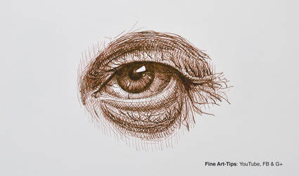 How to Draw an Eye With Pen and Ink-old man by ArtistLeonardo