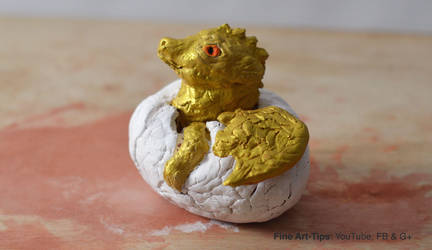 How to Sculpt a Baby Dragon Hatching by ArtistLeonardo