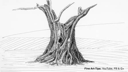 How to Use a Dip Pen - Drawing an Olive Tree by ArtistLeonardo