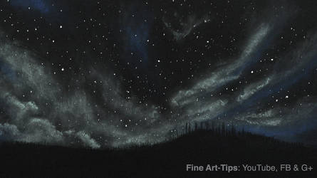 How to Draw a Starry/Cloudy Night With Pastels by ArtistLeonardo