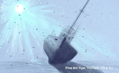 How to Draw an Underwater Shipwreck With Pastels by ArtistLeonardo
