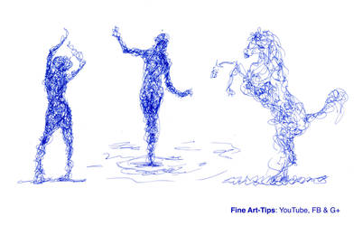 How to Doodle - 4 Sketches - Exercises by ArtistLeonardo