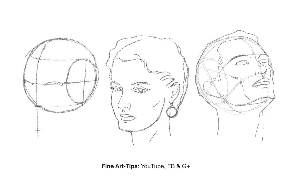 How to Draw the Head from Any Angle - Loomis by ArtistLeonardo