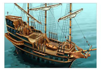 ship 'Karakka' by muravei
