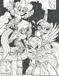 Teenage Mutant Ninja Ponies Commissions by PonyGoddess