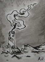 lighthouse candle by oldschool-sinner