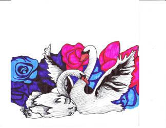 Swans. by CuppyCakeQueen
