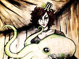 Circus Freak: Madam Octopus by poisonousxshroom