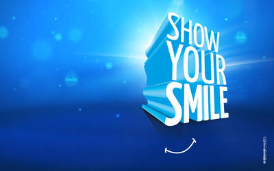 Show Your Smile Wallpaper by adriano-designs