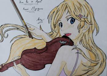 Shigatsu wa kimi no uso : Kaori Miyazono by AlienGirl34