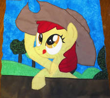 Apple Bloom Quilt Square by Peruserofpieces