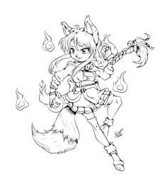 The Trickster-lines by Hotaru-oz