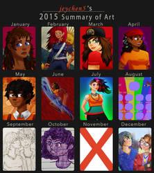 2015 Summary of Art by jeychen5