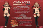 Character Sheet: Cindy Mides by CindyMides