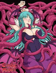 Commission: Morrigan's Bed of Tentacles by CindyMides