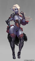 #270 dark elf [clothed version] by cutesexyrobutts