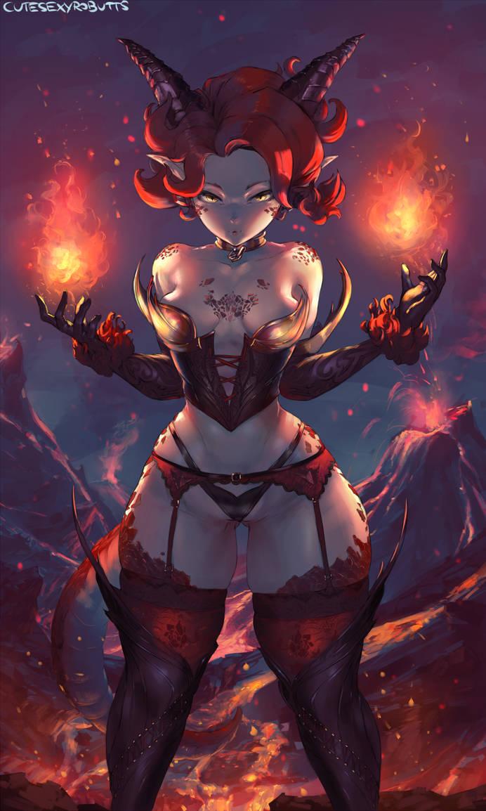 #338 dragon girl by cutesexyrobutts