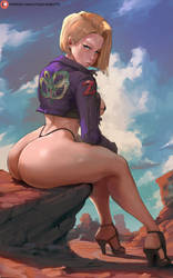 android 18 by cutesexyrobutts
