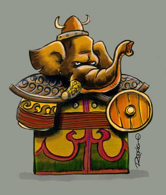 Elephant Warrior by RodrigoDiazAravena