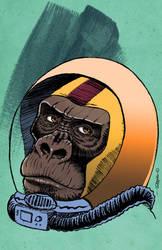 Space Monkey colored by RodrigoDiazAravena