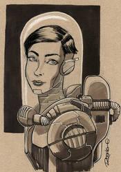 Space Girl by RodrigoDiazAravena