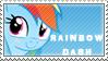 Rainbow Dash stamp cute vr by tofuudog