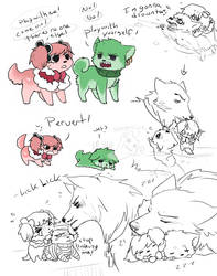 OP Mihawk and puppehs by Nire-chan