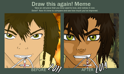 Kuraido Draw This Again Meme by Gomamon4life