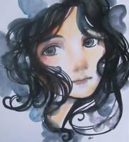 ink hair by alealgethi