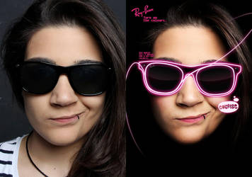 Before/After Ray-Ban ad by Irisnawer