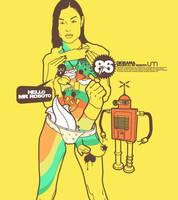 DIORAMA.saludo al sr roboto by uselessMONKEY