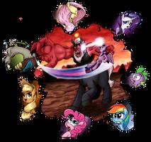 Collab: Battle that shook Equestria by saturdaymorningproj