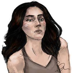 Kate Piper portrait. by CognativeChipmonk