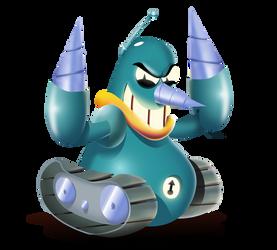 Grounder Sonic Mania by Luigiman11
