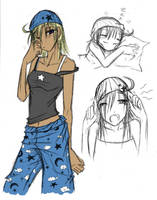 -Side Character- Sandgirl by Dyemelikeasunset