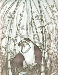 Epic Panda by Dyemelikeasunset