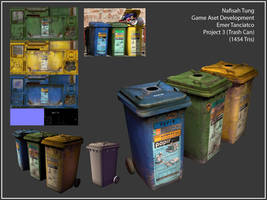 3D- the Trash Can Trio by Dyemelikeasunset