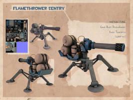 3D- TF2 Study: Sentry by Dyemelikeasunset