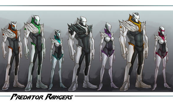 :WWP: Predator Rangers line up by Dyemelikeasunset