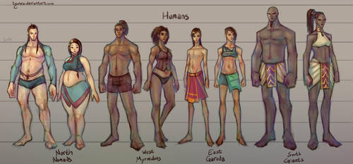 Fantasy Races: [1/4] Humans by Dyemelikeasunset