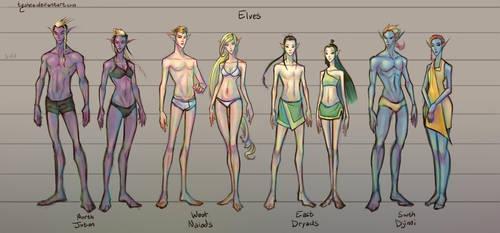 Fantasy Races: [2/4] Elves by Dyemelikeasunset