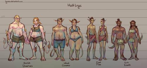 Fantasy Races: [3/4] Halflings by Dyemelikeasunset