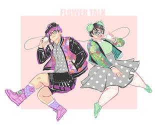 Flower Talk by Dyemelikeasunset